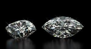 Marquise Cut Diamond Fotografía de archivo