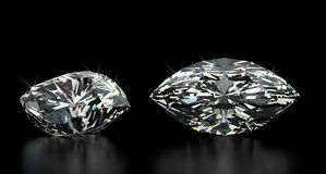 Marquise Cut Diamond Stock Photography