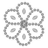 Marquise & round cut gems royalty free illustration