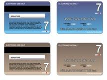 Marrón azul de la tarjeta de crédito ilustración del vector