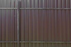 Marrón de la cerca del metal grande Fotografía de archivo