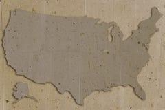 Marrón de los E.E.U.U. de la piedra ilustración del vector