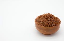 Marrón del arroz Fotografía de archivo