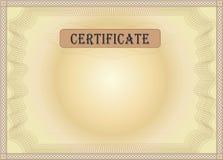 Marrón del certificado Fotografía de archivo