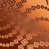 Marrón del contexto con los cuadrados Foto de archivo libre de regalías