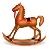 Marrón del juguete de Cockhorse imagen de archivo libre de regalías