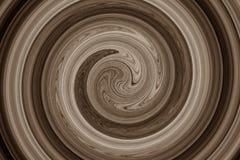 Marrón espiral abstracto Fotos de archivo