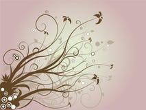 Marrón floral Stock de ilustración