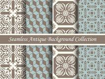 Marrón inconsútil antiguo de la colección del fondo y blue_51 Imagen de archivo libre de regalías