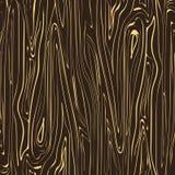 Marrón oscuro de madera de la textura inconsútil del vector con las rayas rubias Imagen de archivo libre de regalías