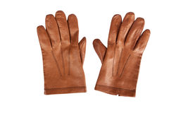 Marrón para hombre de los guantes Fotos de archivo