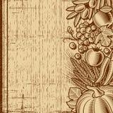 Marrón retro del fondo de la cosecha stock de ilustración