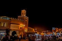 Marrakech к ноча Стоковое Изображение