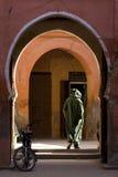 Marrakech. Little street in souq of dyer Stock Image