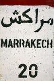 Marrakech - 20 km Stock Afbeelding