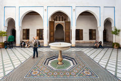 Marrakech Bahia Palace Image stock