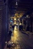 Marrakech bazar at night Royalty Free Stock Photos