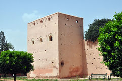 Marrakech defensive walls Stock Photos
