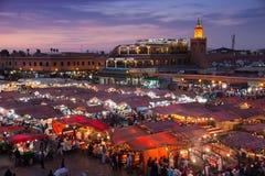 Marrakech Djemaa-el-Fna square Stock Photos