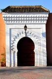 Marrakech door. A door in Marrakech streets Royalty Free Stock Image