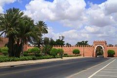 Marrakech gamla stadsväggar Royaltyfri Bild