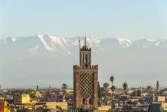 Marrakech i Marocko Arkivfoton