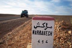 Marrakech 414 kilomètres image stock