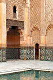 Marrakech madrasah ornament. Marrakech madrasah internal walls ornament Stock Photography