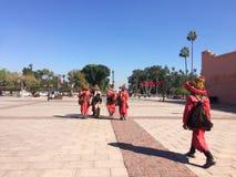 Marrakech Marocko jamaaelfna royaltyfria foton