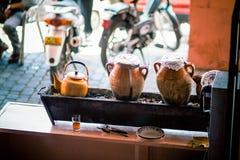 Marrakech Marocko traditionell matlagning Royaltyfria Foton