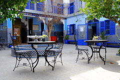 Marrakech Maroko błękitny budynek Obrazy Stock