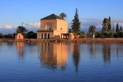 Marrakech Menara Pavillion Stock Afbeeldingen
