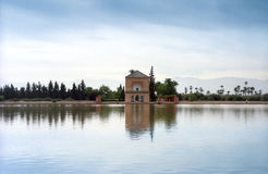 Marrakech Menara Pavillion Royalty Free Stock Photos