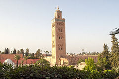 Marrakech, Morocco - August,3 , 2015: Koutoubia mosque Stock Images
