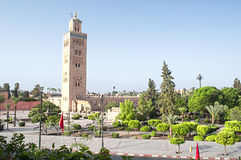 Marrakech, Morocco - August,3 , 2015: Koutoubia mosque Royalty Free Stock Photos