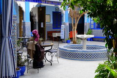 Marrakech Morocco blue building Royalty Free Stock Image