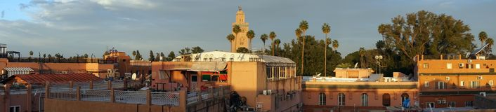 Morning roofs in Marrakech Royalty Free Stock Photography