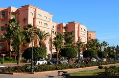 The Avenue Mohammed VI in the city of Marrakesh Stock Image