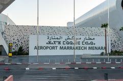 Marrakesh Menara Airport Aeroport Marrakech Menara. stock images