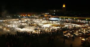 MARRAKECH, MOROCCO - May 2nd, 2009: Djemaa el-Fna Stock Images