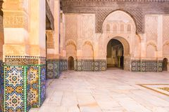 Inside old school of Marocco, Africa stock photo