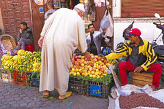 MARRAKECH - MOROCCO, OCTOBER 22 2013:Moroccan man in traditional Royalty Free Stock Photo