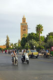 MARRAKECH, MOROCCO - OCTOBER 22, 2013:View on the Koutoubia mosq Royalty Free Stock Images