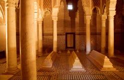 marrakech morocco saadienstombs Arkivbild