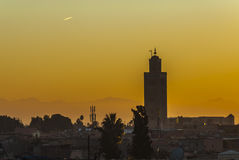 Sunset in Marrakech, Morocco Royalty Free Stock Photo