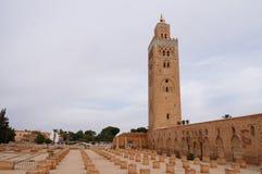 Marrakech. Moské av Koutoubia Royaltyfria Foton