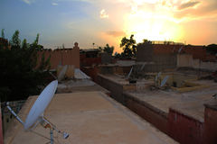 Marrakech natury krajobrazy w Maroko, Afryka Pustynia i góry Podróż Maroko zaniki Fotografia Stock