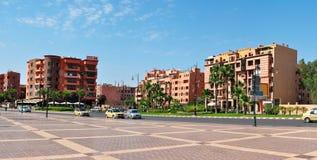 Marrakech 16 november fyrkant Arkivfoton