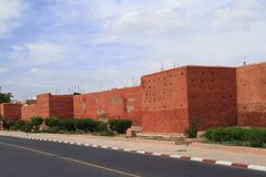 Marrakech Old City Walls Stock Photos