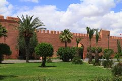 Marrakech Old City Walls Royalty Free Stock Photography